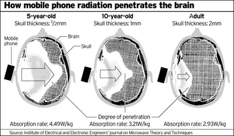 Irradiamento elettromagnetico dal cellulare al cervello. Nuove tecnologie avverse ai bioritmi e cancerogene