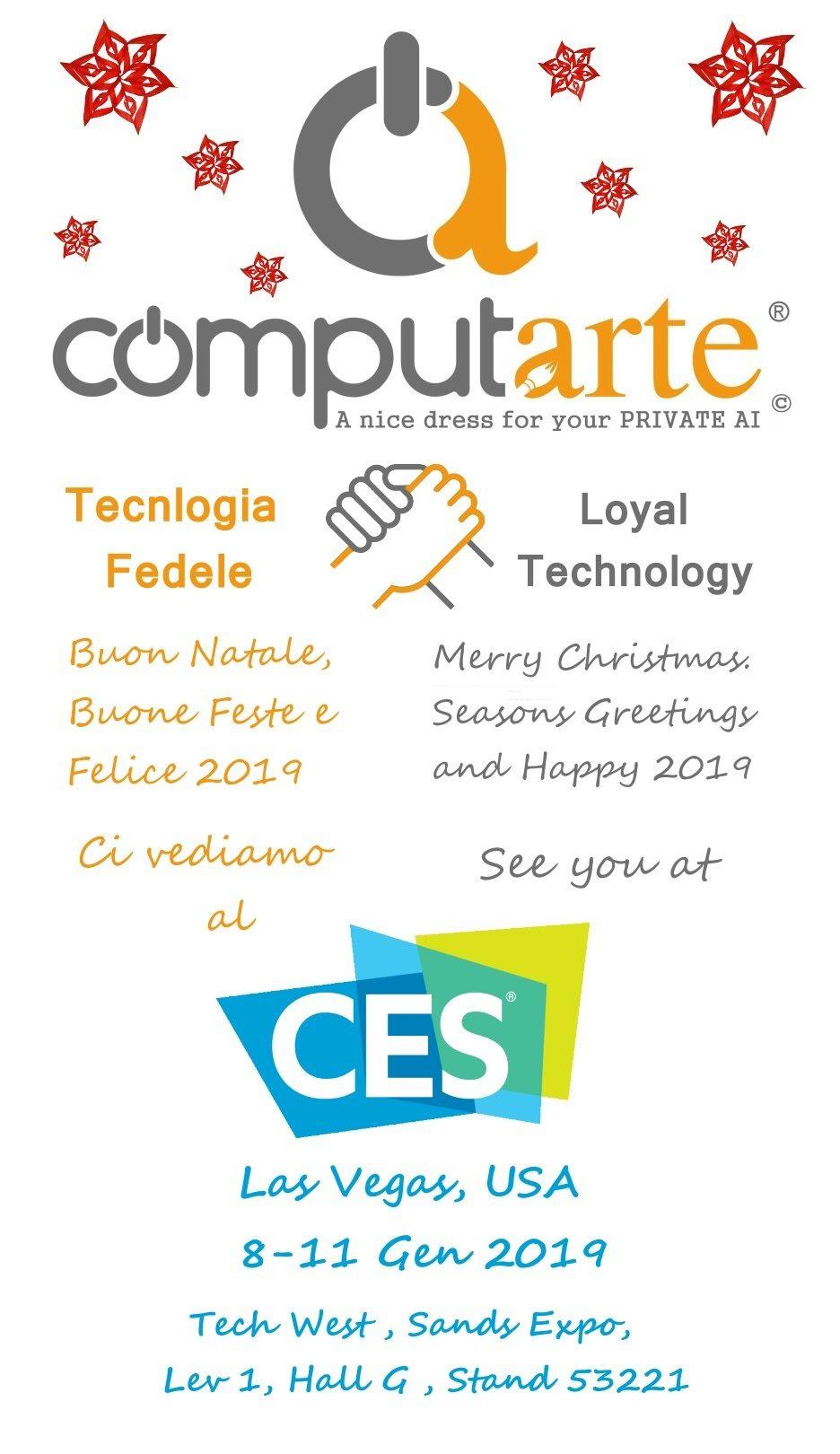 ComputArte Auguri 2019 – Invito CES 2019 – Lancio CompuGatto
