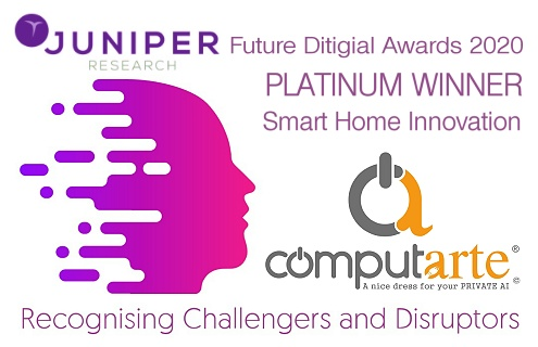 Juniper Research - FUTURE DIGITAL AWARDS - Smart Home Innovation Platinum Winner ComputArte