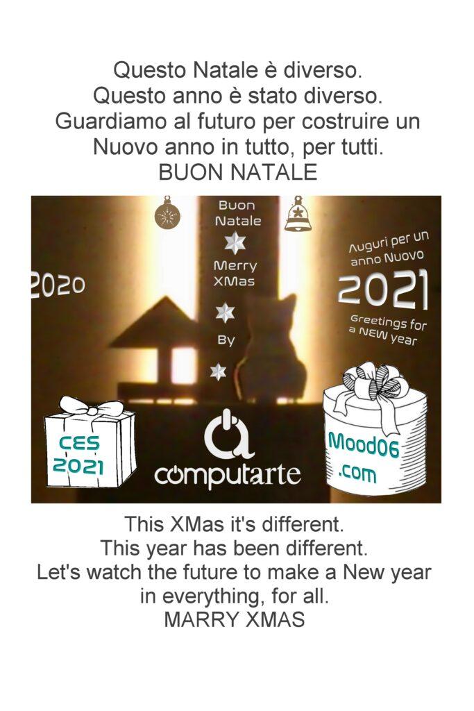 ComputArte 2020: Buon Natale - Merry XMas. Una foto nel qquale si evincono i due modelli della Collezione ComputArte : Dina Pirami e Bianca Miao.